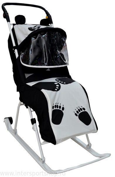 санки коляска панда тяни толкай